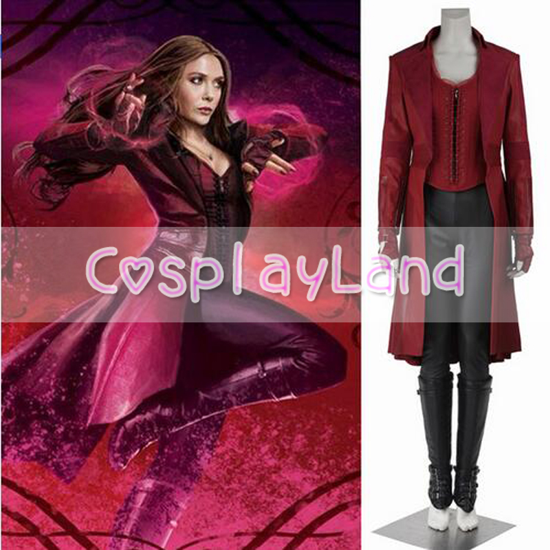 Scarlet Witch Wanda Maximoff Costume Captain America Civil War Sexy Cosplay Halloween Clothing for Women Adult Party Jacket