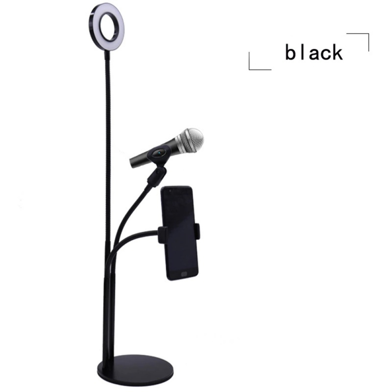 Support de téléphone de bureau réglable souple Selfie anneau lumière Long bras Clip de téléphone portable support paresseux lampe à LED de bureau