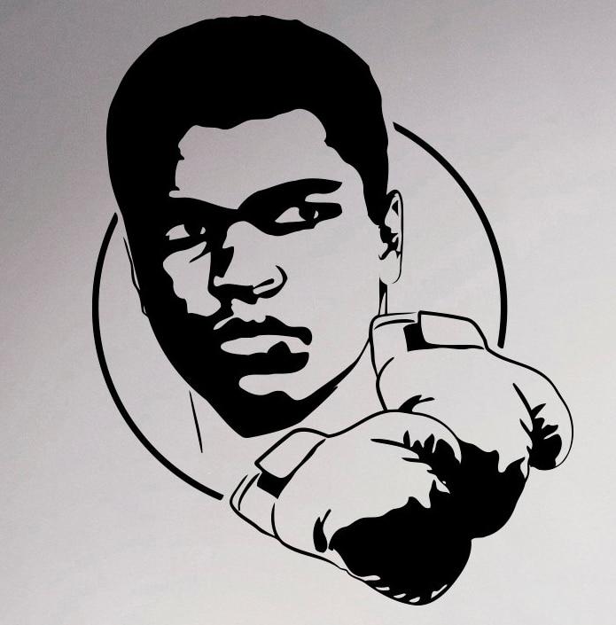 muhammad ali boxer wall sticker sport boxing vinyl decal