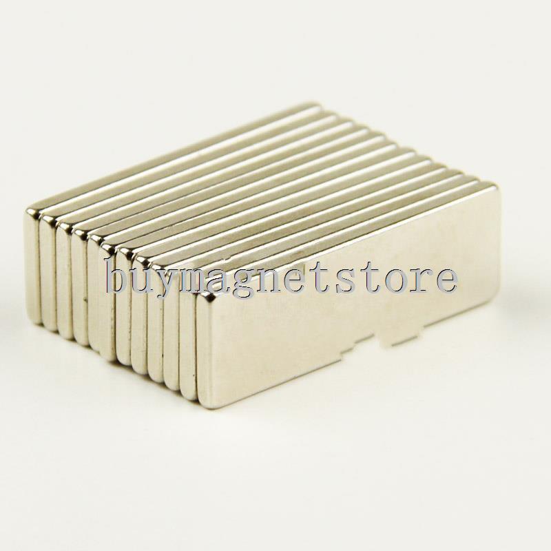 Lots 10 x Super Strong Block Cuboid Magnets Rare Earth Neodymium 30 mm x 10 mm x 2 mm n52 ndfeb Neodymium  30*10*2 2pcs bulk super strong neodymium rectangle block magnets 50mm x 30mm x 5mm n35 rare earth ndfeb rectangular cuboid magnet