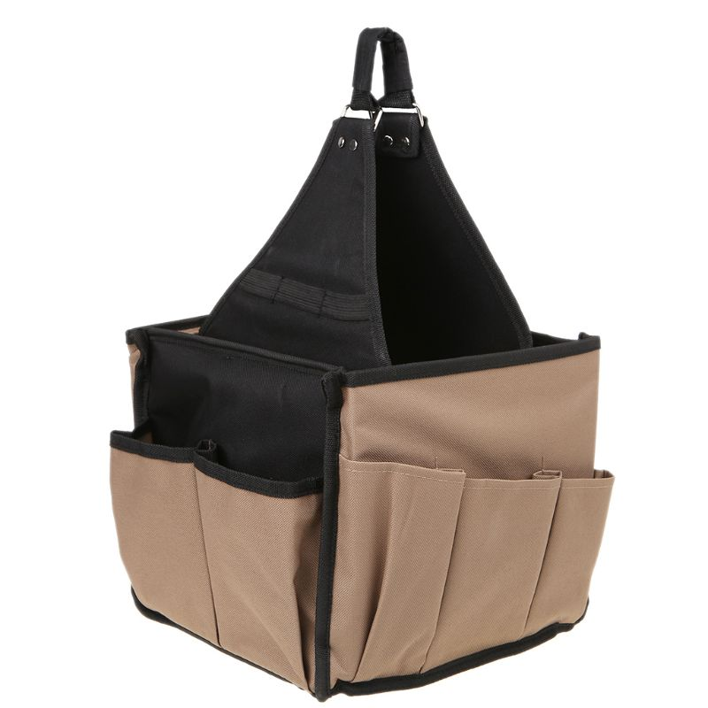 Men Multi Pocket Oxford Fabric Tool Bag Utility Pouch Electricians Hanging Bucket Hardware Belt Gardening Tools Storage Organize