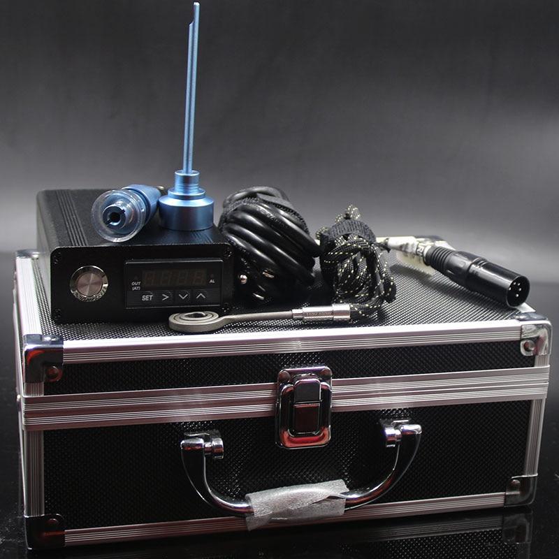 Boîte numérique de dab de titane de dab de clou électrique portatif d'enail E de dab pour la plate-forme de dab de quartz de banger avec la bobine plate de 10mm