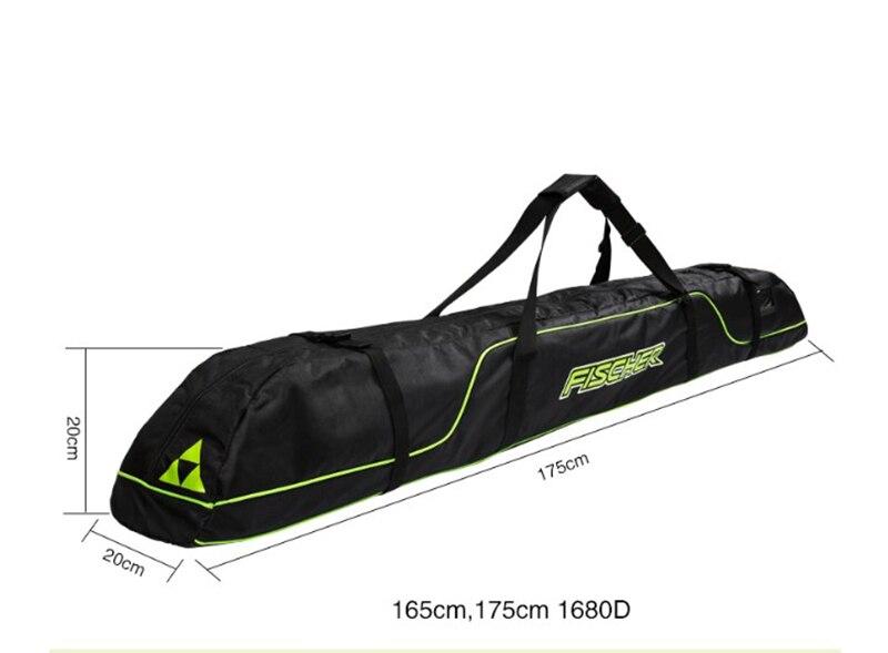 Pack de bâtons de Ski bottes de neige casque Portable porter épaule sac à main pour Double Snowboard imperméable Oxford housse 165 cm 175 cm