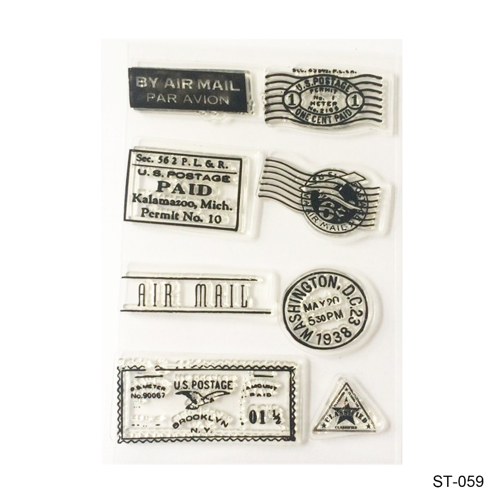 By air mail  Design Silicone Transparent Stamp Clear Stamps Set for DIY Scrapbooking Photo Album Decoration Supplies lovely animals and ballon design transparent clear silicone stamp for diy scrapbooking photo album clear stamp cl 278