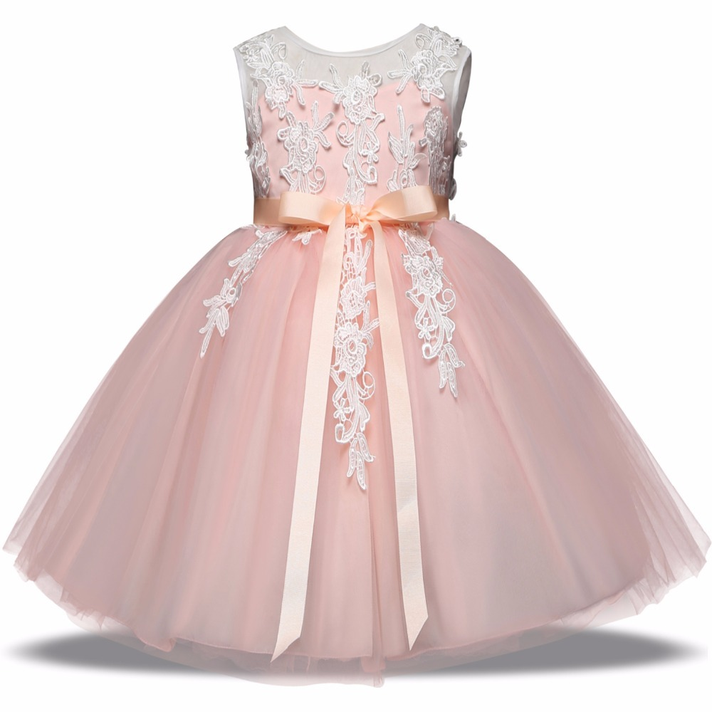 a1a958ad8 Children Clothing Baby Kid Girls Wedding Party Costume Prom Dresses For Girl  Birthday Outfits Baby Girl Clothes robe fille Gown