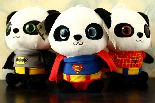 Free Shipping 20 CM Soft Batman Panda Stuffed Toys Cute Plush Animals Toys Best Christmas Gifts Kids Toys For Children  цена и фото