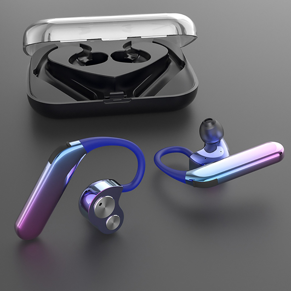 OKCSC X6 Wireless TWS Bluetooth 5 0 Earphone Stereo HiFi 4DD Dynamic Sound Earphones Wireless Headphones