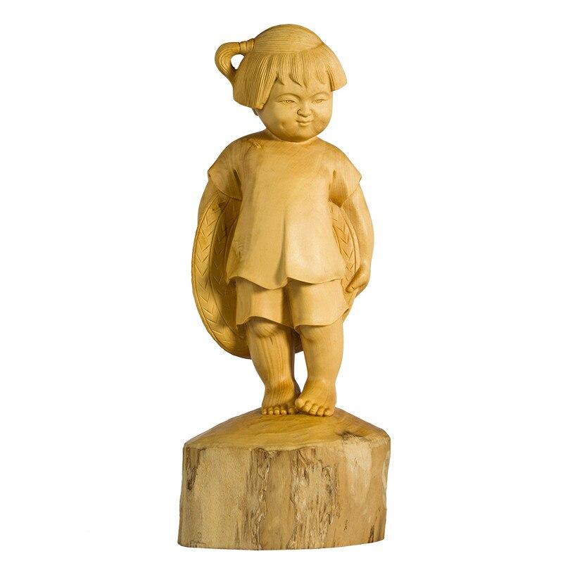 Buis sculpture artisanat enfance bois ornements maison salon créatif décoration petite fille cadeau Collection M1536