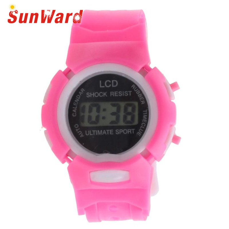 Drop Shipping Gift Boys Girls Students Time Clock Electronic Digital LCD Wrist Sport Watch July12 hot hothot sales colorful boys girls students time electronic digital wrist sport watch free shipping at2 dropshipping li