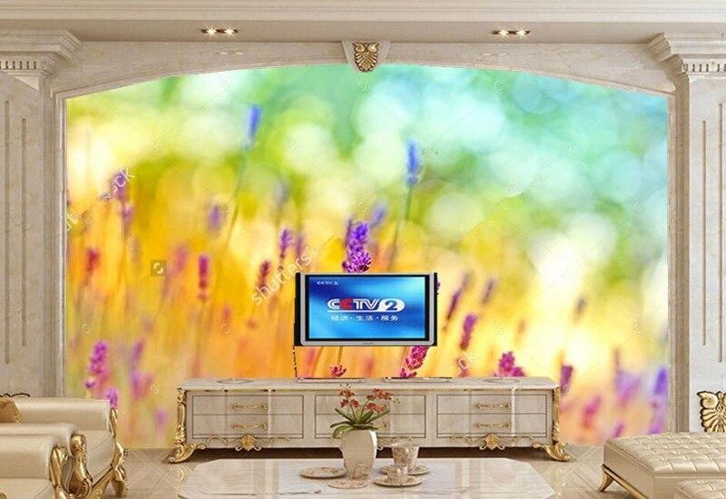 Custom large mural papel de parede,Beautiful Fantasy lavender Wallpaper,living room TV sofa wall bedroom 3d modern wallpaper custom mural wallpaper european graffiti art large wall painting papel de parede living room bedroom decorative wallpaper murals