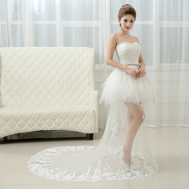 2016 new fishtail wedding dress, Korean fashion bra bride wedding ...
