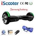 Sasung Batterij Elektrische Scooter Hoverboard6.5 inch Twee Wielen Zelf Balanceren Scooter Elektrische Skateboard hoverboards Met LED