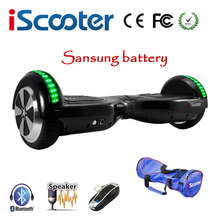 Sasung Battery Electric Scooter Hoverboard6.5 inch Two Wheels Self Balancing Scooter Electric Skateboard hoverboards With LED