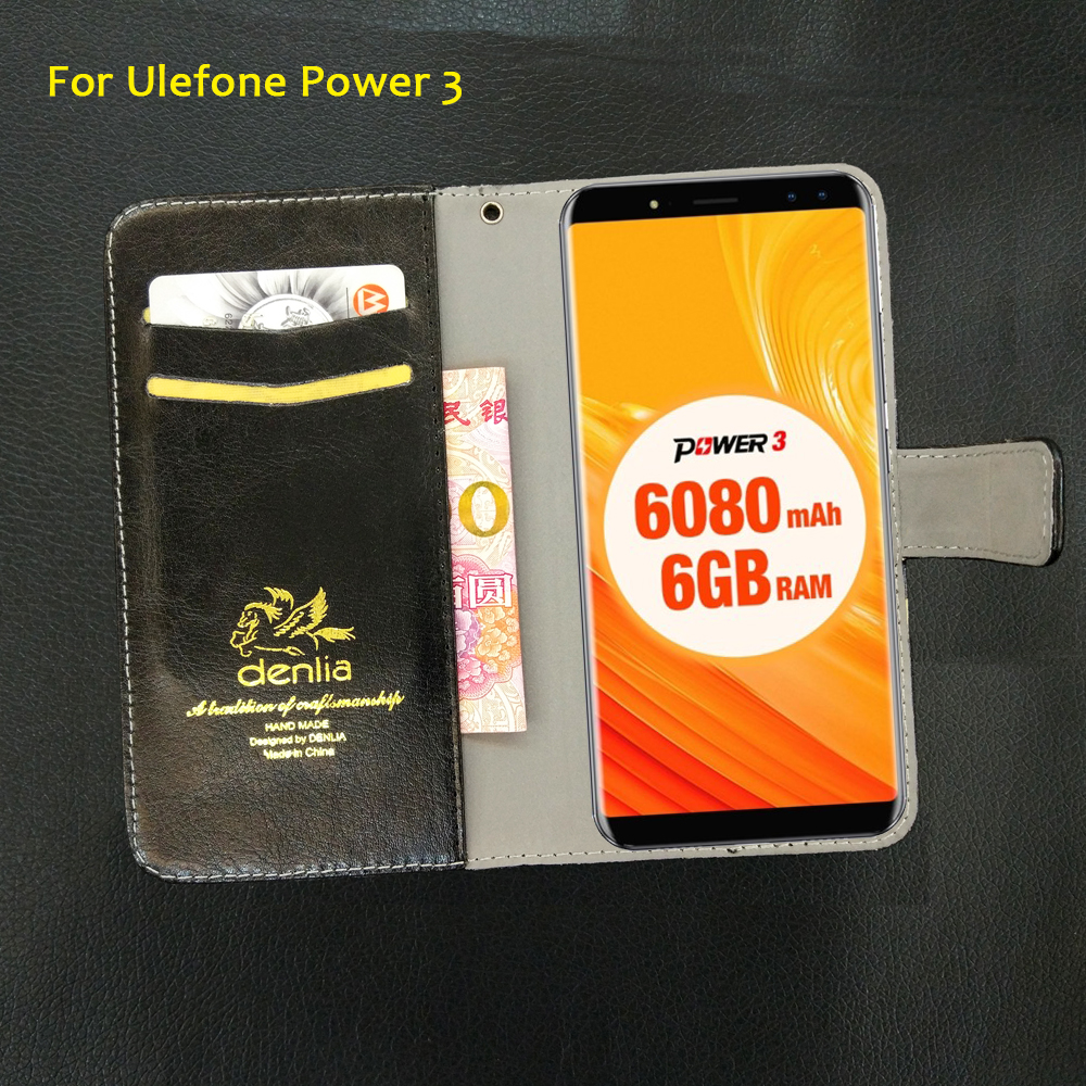 TOP New! Ulefone Power 3 Case 5 Colors Flip Luxury Leather Case Exclusive Phone Cover Credit Card Holder Wallet+Tracking