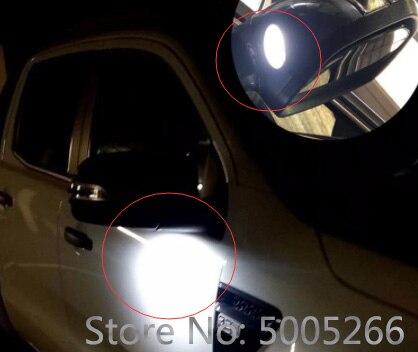 פורד 2pcs רכב LED תחת Mirror כיכר שלולית אור פורד מונדיאו mk4 C-Max C-Max II פוקוס III Kuga Kuga השנייה Escape לבן (3)