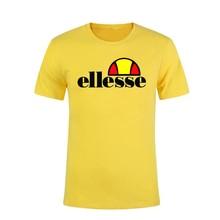 Ellesse man популярный логотип новый комплект футболка европейская и американская мода мужская летня