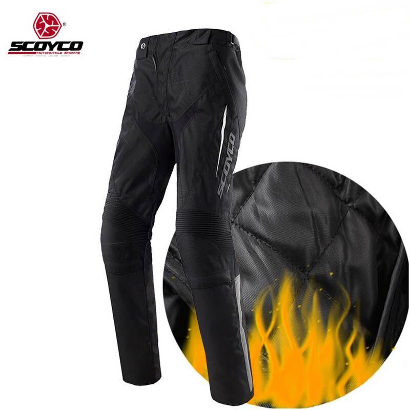 2017 nouveau chaud SCOYCO P018-2 Oxford moto cross pantalon équipement moto moto pantalon avec genouillère