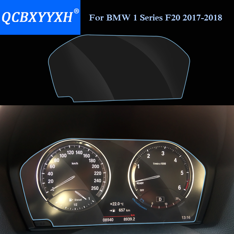 QCBXYYXH Car Styling Car Dashboard Paint Protective PET Film For BMW 1 Series F20 2017 2018 Light transmitting 4H Scratchproof Automotive Interior Stickers     - title=