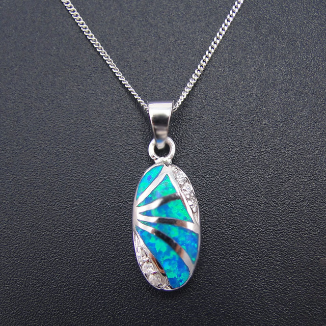 New 100 925 silver jewelry daily wear pendants blue fire opal new 100 925 silver jewelry daily wear pendants blue fire opal pendant women jewelry without aloadofball Image collections