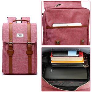 Image 5 - Femmes toile sac à dos décontracté sacs à dos femme 15 pouces sacs à dos dordinateur portable collège étudiant école sac à dos femmes Mochila