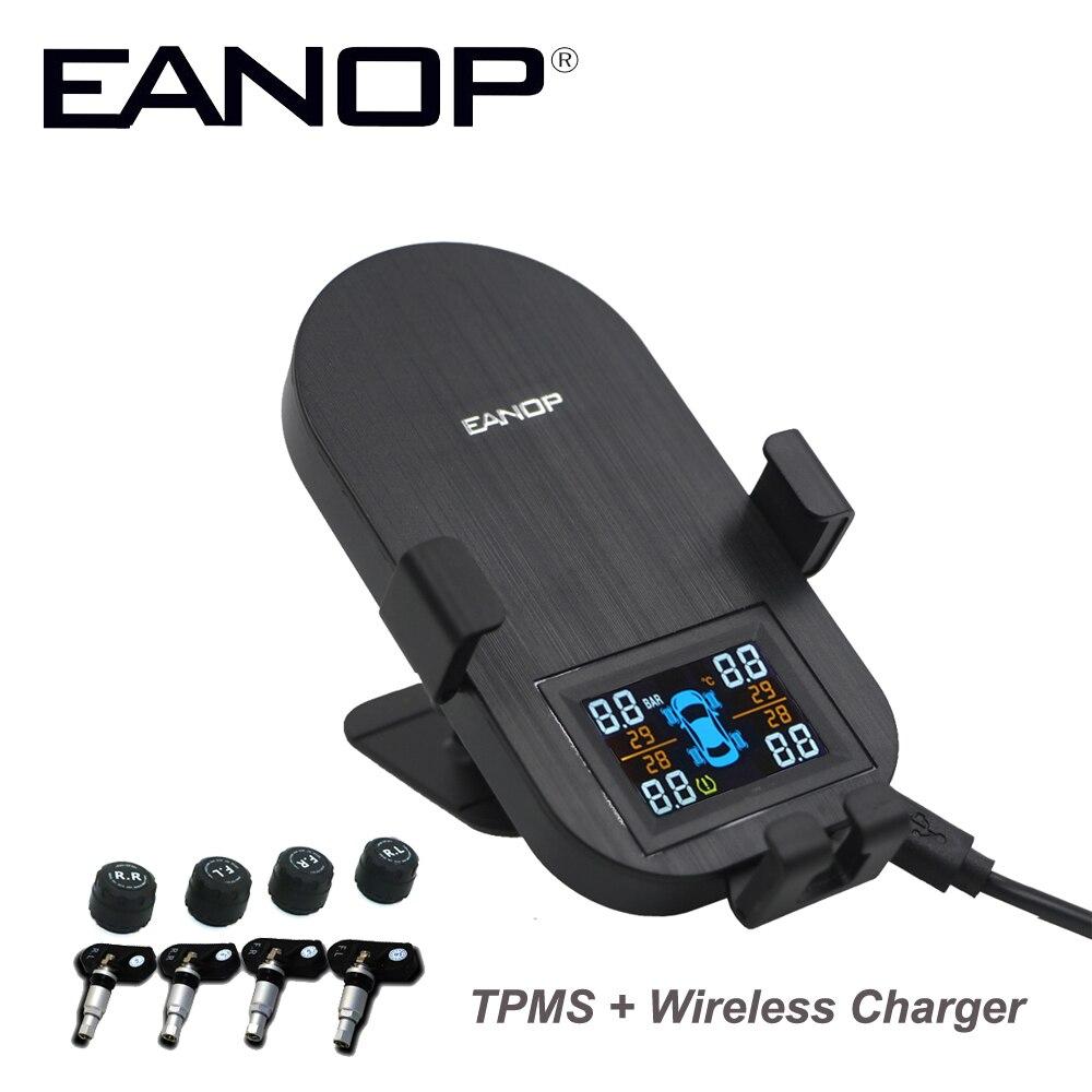 EANOP TW100 TPMS система мониторинга давления в шинах в реальном времени с беспроводным зарядным устройством + USB Автомобильное зарядное устройств...