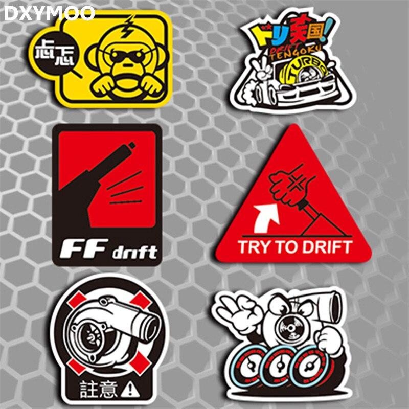 Japan JDM Car Stickers Motorcycle Monkey FF DRIFT HF Hellaflush - Vinyl stickers for motorcyclesaliexpresscombuy hellaflush car stickers vinyl waterproof