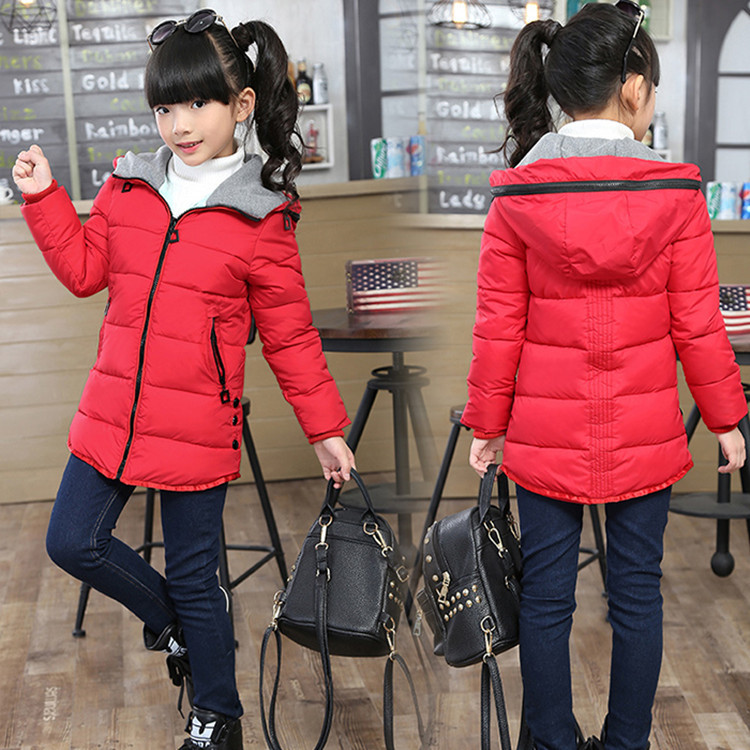 2018 New Winter Children's Clothing Kids Down Cotton Outerwear Girls Wadded Jacket Child FashionThickening Cotton-padded Coat double breasted cotton padded jacket stand collar middle aged mother quilted coat plus size women winter wadded outerwear xh499