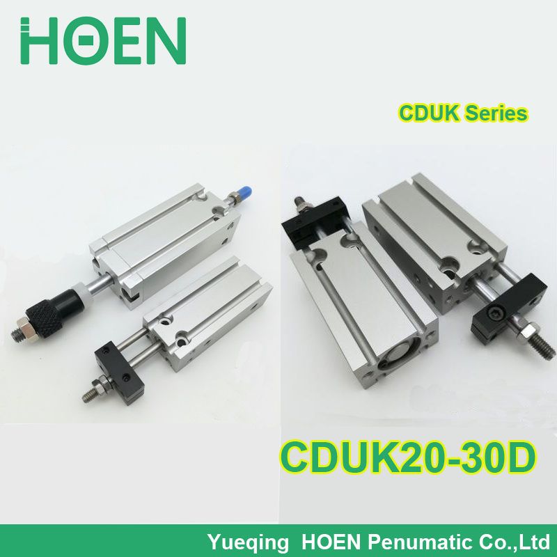 CDUK20-30D SMC type double acting Non-rotating rod bore 20mm stroke 30mm aluminum alloy pneumatic air cylinder cduk6 15d smc type double acting non rotating rod bore 6mm stroke 15mm aluminum alloy pneumatic air cylinder