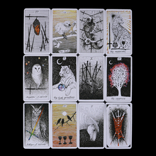 78Pcs/set Wild Unknown Tarot Deck Rider Oracle Cards 78 Cards, Mysterious Animal Totem Guidance - Board Game