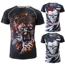 лучшая цена Men Tshirt boxing Sweatshirts jerseys tiger muay thai mma rashguard jiu jitsu sauna suit rashguard mma t shirt king boxing bjj