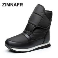 ZIMNAFR BRAND 2017 WOMEN SNOW BOOTS FASHION ANTISLIP WARM MID CLAF WOMEN WINTER BOOTS PLUS SIZE