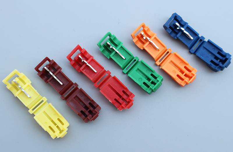 2017 freeshipping 50pcs/lot Scotch Lock Quick Splice Wire Connectors Terminals Crimp Electrical Car wire 22-10AWG(0.5-6.0mm2) 50pcs lot wire hanger fastener hanging photo picture frame quick easy clutch release nickel plate movable head ceiling