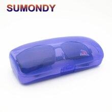 SUMONDY большой размер небьющиеся очки коробка для солнцезащитных очков 4 цвета Прозрачный Пластиковый Чехол для очков G135