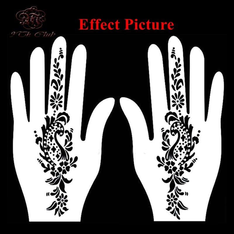 4pcs facile femmes pochoir de tatouage au henné, pochoir - Tatouages et art corporel - Photo 6
