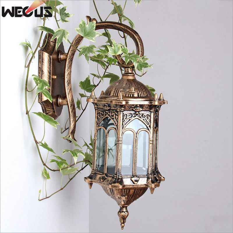 Europe Fashion luxurious  waterproof  wall lamp, Rerto Outdoor wall lights