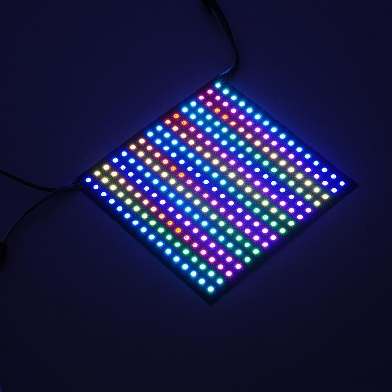DC5V 5050 WS2812B RGB LED adressable individuellement Pixel Panel 8*32/16*16 numérique RGB LED la matrice est constituée