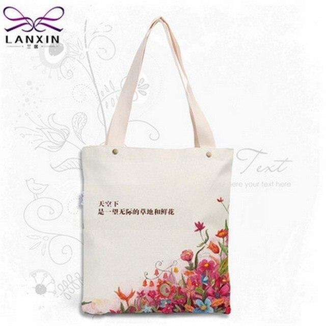 Woman Shoulder Handbag Canvas Shopping Bag Women Lady Handle Shopper Bag 2016 Handbags Flower   Printed Large Bag