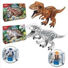 Мир Юрского периода 2 фигурки вариант конструктор тираннозавр рисунок игрушечные лошадки для детей Совместимость с Lego динозавр игрушечные лошадки