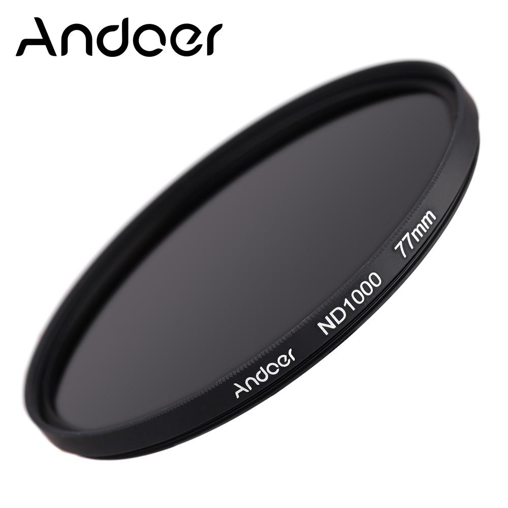 Prix pour Andoer 77mm Optical glass ND Filtre 1000 10 Arrêt Fader Densité Neutre Filtre pour Nikon Canon DSLR Caméras