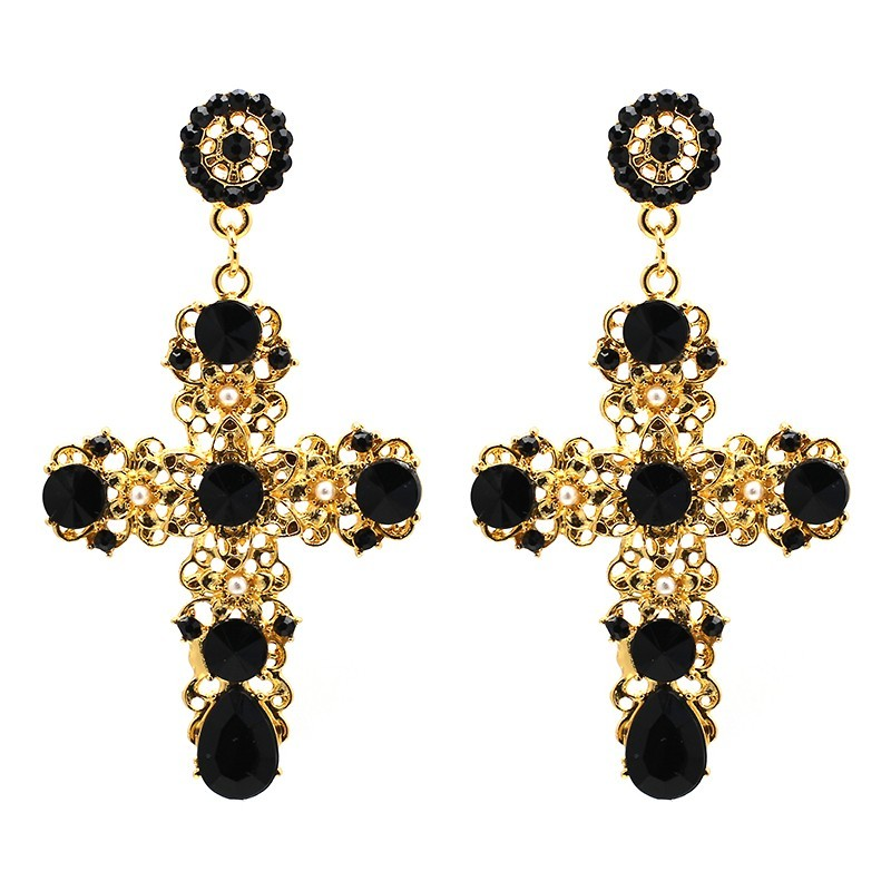 Crystal Cross Drop Earrings 4