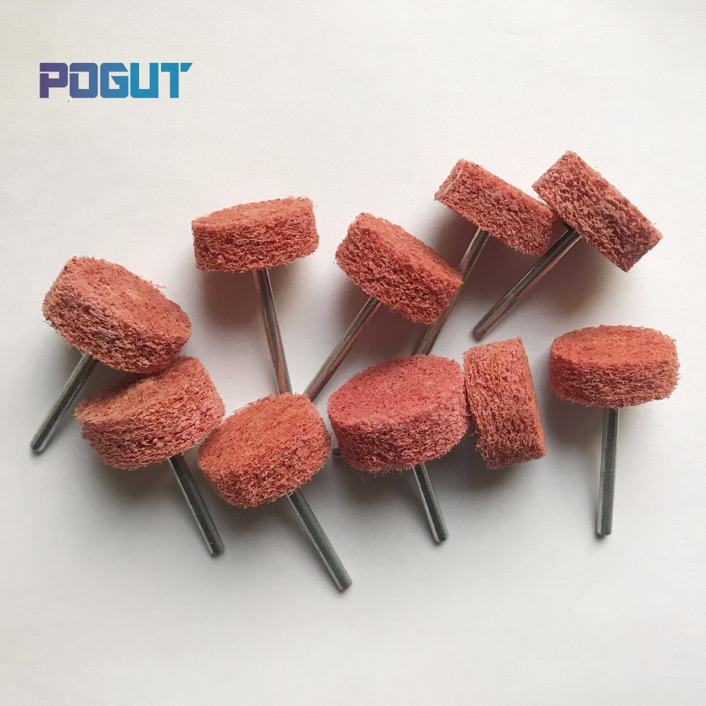 10pcs/lot Red Nylon Abrasive Plate Cleaning Grinding Wheel For Metal Marble Furniture Polishing Removal Drill Power Tools Drip-Dry Tools