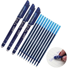 Erasable Pen Refill 12/21Pcs/Set Office Gel Pen 0.5mm Rod Magic Erasable Pen Blue/Black Ink School Stationery Writing Tool Gift 0 5mm erasable pen refill 20pcs set gel pen rod magic erasable pen blue black ink office school stationery writing tool gift