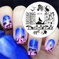 NACIDO PRETTY Zebra Lobo Animal Patrones Nail Art Sello Plantilla Placa de la Imagen del Clavo Que Estampa Las Placas BP16 Set de Uñas Herramienta