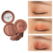 3CE EUNHYE HOUSE Brand Makeup Eye Shadow 3 Color Shimmer red wine Shimmer Pearl earth  Matte pumpkin Long-lasting Waterproof