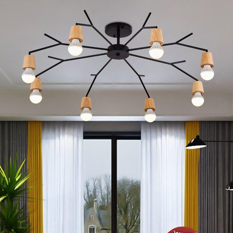 купить Veayas Wireless ceiling lights for living room bedroom children's room Kitchen light luminaria led Lights wooden ceiling lights по цене 3913.26 рублей