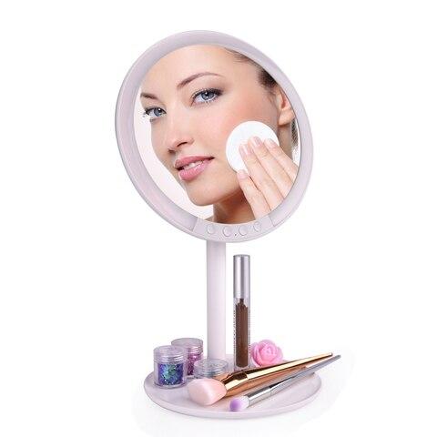 Espelho Da Vaidade Da composi o com 66 Luzes LED Recarreg vel 7 Profissional Espelho
