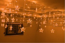 Yellow LED Garlands Christmas Lighting Wedding Party Decoration Chandelier 3.5M 100 LEDs 16p Pearl Stars Free shipping