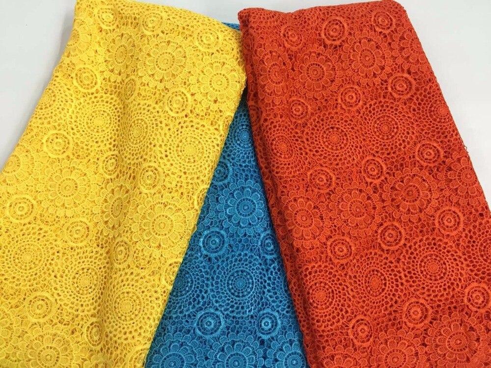 CW2023 Cordón de cordón de guipur nigeriano de poliéster africano - Artes, artesanía y costura - foto 6