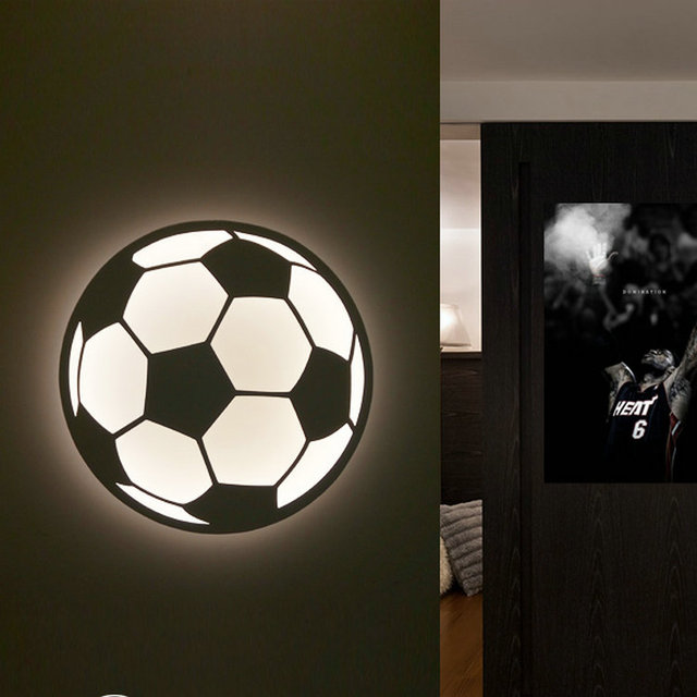 Modern football wall lamp small animal ball light box novelty modern football wall lamp small animal ball light box novelty acrylic night light for home decoratoion mozeypictures Images