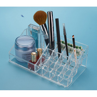 Acrylic 16 Grid Packaging Box For Jewelry Exquisite Makeup Case Jewelry Organizer Container Boxes Graduation Birthday